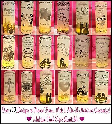 Personalized Vellum Luminaries Wedding Table Centerpieces Decorations Numbers #1](Numbered Candles)