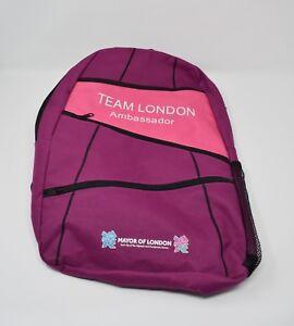 2012 Team London Ambassador Rucksack Rare Olympics Games Backpack Bag