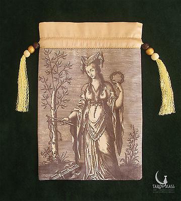 """Sibylla Delphica"" (Oracle of Delphi) - silk Tarot bag"