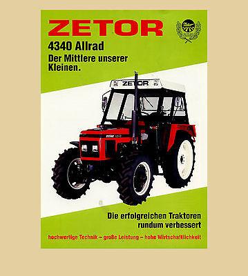 Używany, Zetor 4340 Allrad  Schlepper 57 PS  Traktor na sprzedaż  Wysyłka do Poland