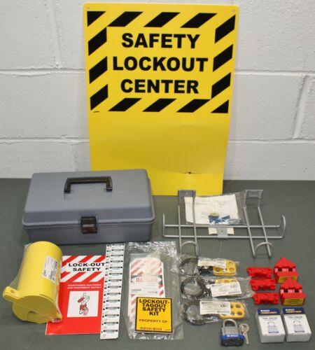 Brady Filled Lockout Station LKXSET, Electrical, 3 Lock, Portable, Toolbox Kit