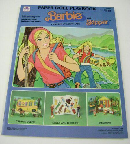 VTG PAPER DOLLS BARBIE SKIPPER CAMPSITE LUCKY LAKE PLAYBOOK PUNCH BOOK MINT!!!!