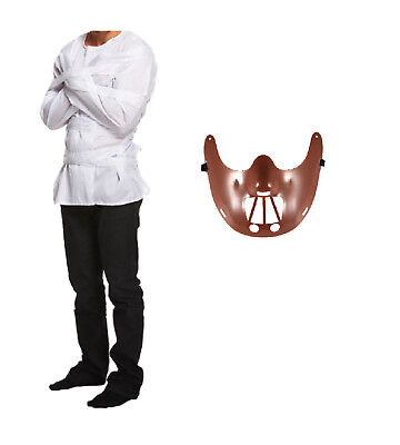 HALLOWEEN FANCY DRESS HANNIBAL LECTER STYLE COSTUME SCARY MASK STRAIGHT JACKET - Halloween Straight Jacket
