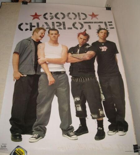 ROLLED 2001 Funky Posters # 6558 GOOD CHARLOTTE BAND PINUP POSTER 22 x 34 PHOTO