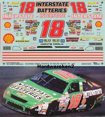 NASCAR DECAL #18 INTERSTATE BATTERIES 1995 MONTE CARLO BOBBY LABONTE SLIXX