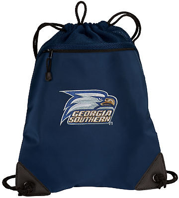 Ncaa Mesh Bag (Georgia Southern University Drawstring Bag Backpack MESH & MICROFIBER NCAA BAGS  )