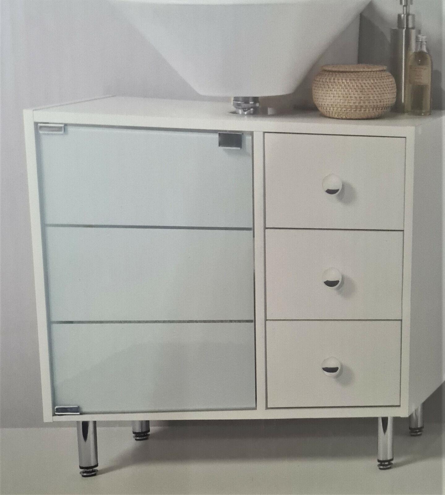 FMD Badezimmerschrank Höhenverstellbar Wasch Becken Unterschrank Badschrank