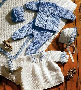 VINTAGE BABY KNITTING PATTERN 12