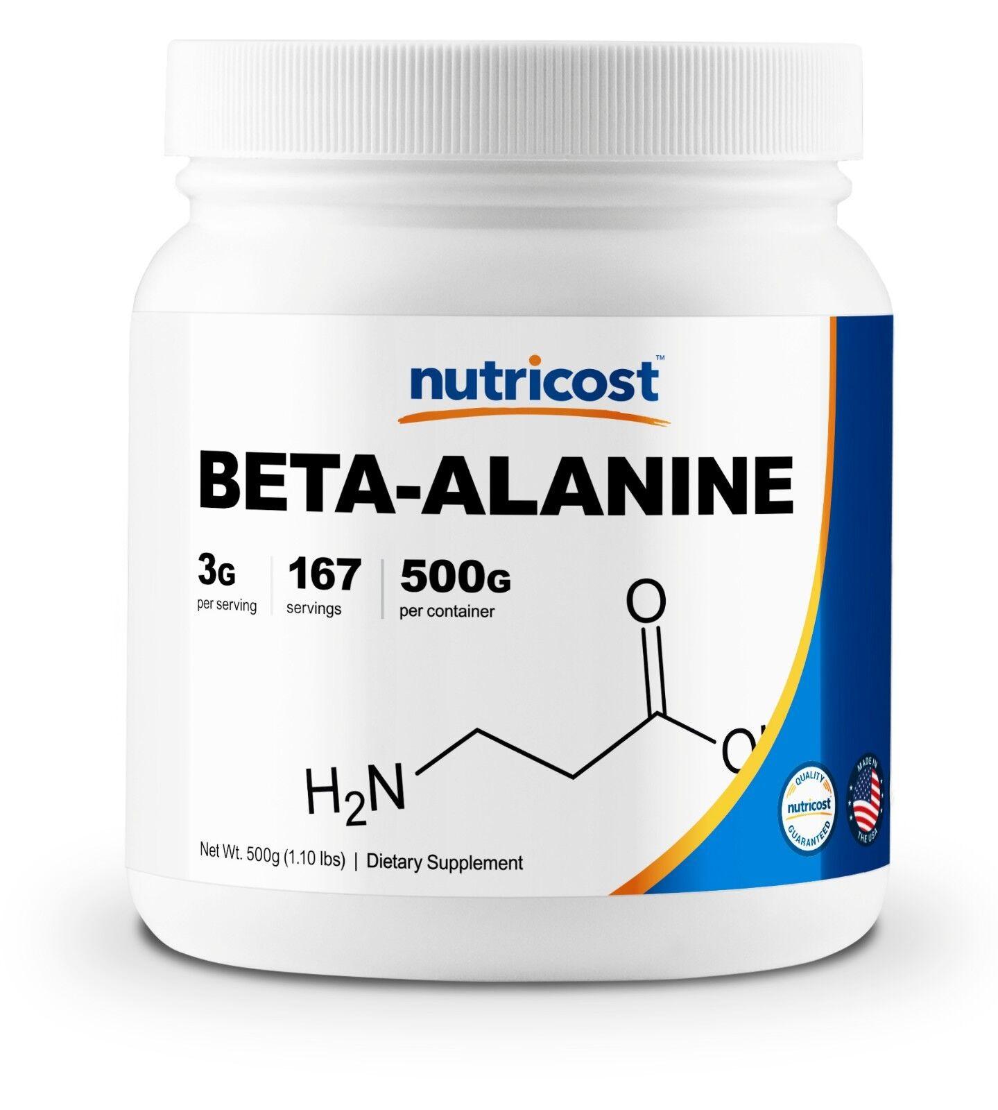 Nutricost Beta Alanine Powder 500 Grams - Pure Beta-Alanine