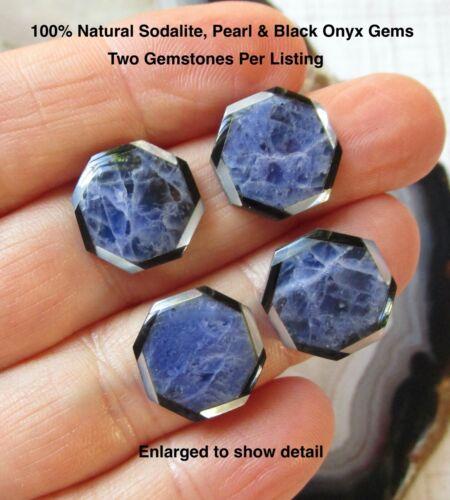 Mosaic Natural Blue Rainbow Gemstone Cabochon, Natural Sodalite Pearl 2 Cabochon