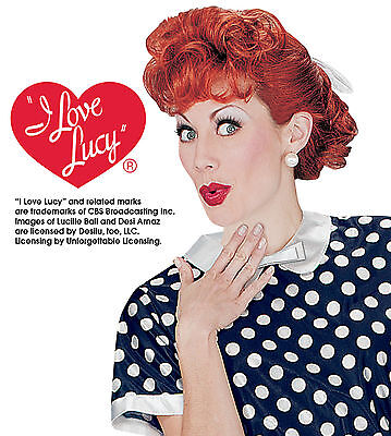 Adult I Love Lucy Lucille Ball Costume Wig   - Lucille Ball Costumes Adults