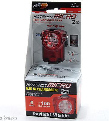 CygoLite Bicycle Hotshot Micro 2 Watt Tail Light LED Bike