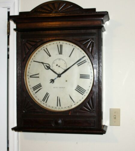 "Huge! Antique Seth Thomas 16"" dial ""Lobby"" Model Gallery Clock"