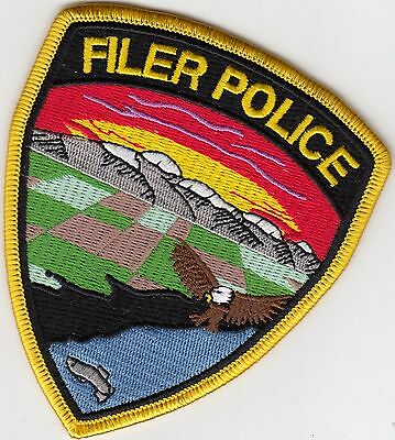 FILER IDAHO ID POLICE SHOULDER PATCH (COLORFUL)