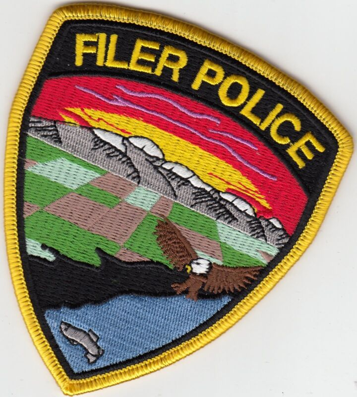 FILER IDAHO ID POLICE SHOULDER PATCH (COLORFUL) EAGLE MOUNTAINS
