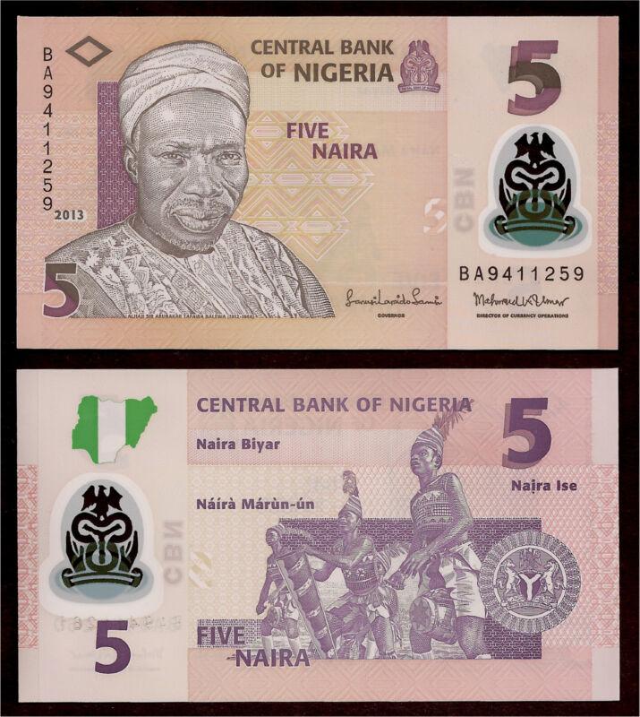 World Paper Money - Nigeria 5 Naira 2013 @ Crisp UNC