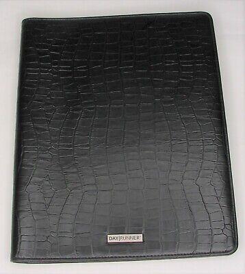 Day Runner Portfolio Padfolio Note Pad Folder Black Dayrunner