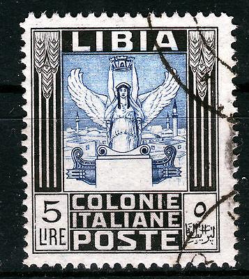Ital. Libyen A 62 A, O, 5 Lire Freimarke Antiken