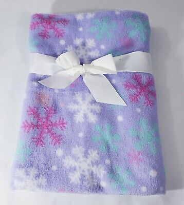 PERSONALIZED Minky Snowflake Purple Baby Blanket ** Baby Shower Gift 30