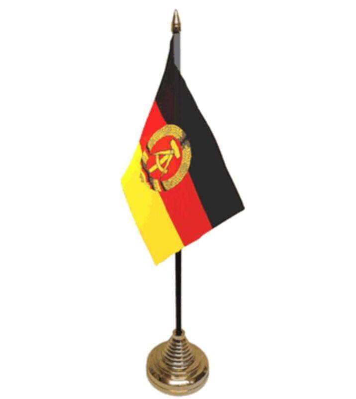"EAST GERMANY DESKTOP TABLE FLAG 6""X4"" 15cm x 10cm flags GERMAN"