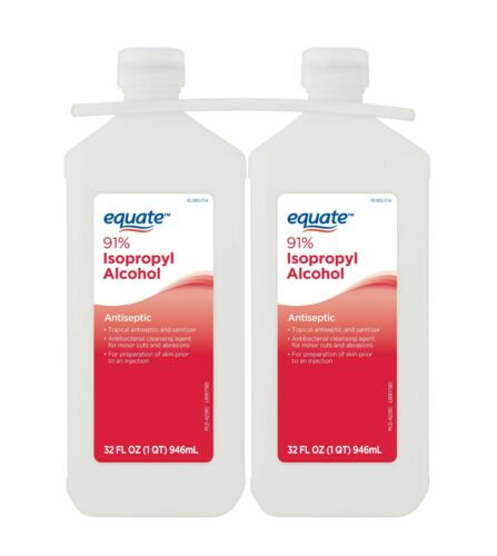 (2 Pack) Equate 32 oz 91% Isopropyl Alcohol -- FREE SHIPPING