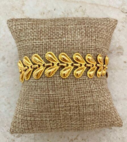 Avon Gilded Links Shiny Gold Tone Bracelet, 90