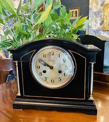 Stunning Brass and Ebonised 8 Day Chiming mantel Clock by Schatz of Germany