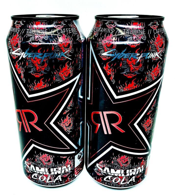🔥NEW! Rockstar Energy Samurai Cola - 2 Full Cans