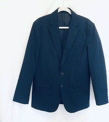 LL Bean Mens 40 Reg Outdoor Blazer Jacket Suit Coat 100% Cotton Navy Blue