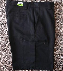 NWT Men's Izod XFG Cargo Golf Shorts  Black   34