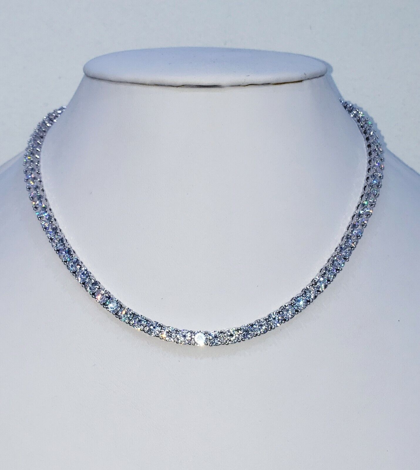 5 MM DIAMOND TENNIS CHAIN VVS1 CRYSTALS BEST QUALITY 14 KT W