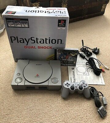 Sony PlayStation 1 PS1 Console ~ Dualshock & Gran Turismo ~ Bundle ~ Boxed