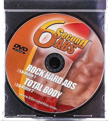 """6 Second ABS Workout DVD """"Rock Hard Abs"""" & """"Total Body"""" Health Sporting Goods  for sale  Shipping to India"""