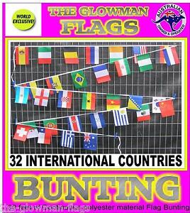 30 foot of 32 International world Countries Nations flag string bunting flags