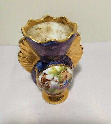 Antique France Limoges porcelain small vase  19th century