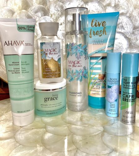 BATH BODY, AHAVA, Etc. Lotion/Fragrance 7pc Lot New/Pre-owned Free Gift  - $24.98