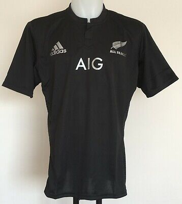82eebc92b47 N.Z. ALL BLACKS 2015-16 S/S HOME JERSEY BY ADIDAS SIZE MEN'S XL BRAND NEW