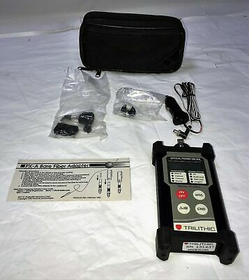 Trilithic Model Tr-2040 Optical Power Meter With Operation Manual And Case