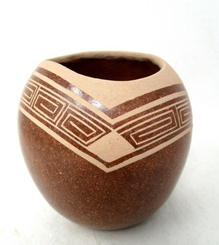 Lonnie Vigil Red Micaceous Pot Nambe Pueblo  - Early Piece from Late 1980s