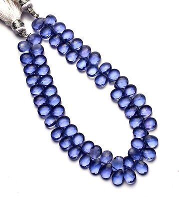 Tanzanite Gem Color Hydro Quartz Faceted 7x5MM Pear Shape Briolette Beads 7