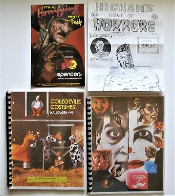 Vintage Lot of 4 Halloween Catalogs, Collegeville Costumes & 3 others