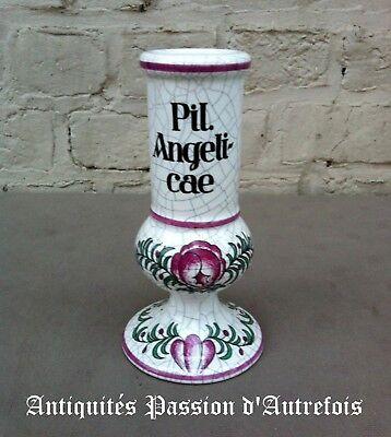 B20171029 - Joli petit vase en faïence aspect craquelé - Très bon état