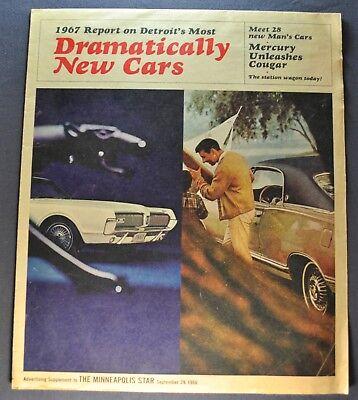 1967 Mercury Newsprint Brochure Cougar Marquis Park Lane Montego Comet - 1967 Mercury Park Lane