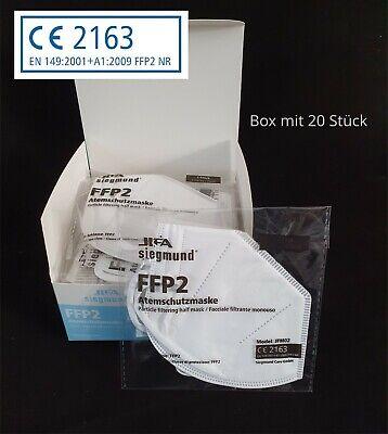 20 STÜCK / JIFA FFP2 Atemschutz-Maske Mundschutz mit Clip CE zertifiziert