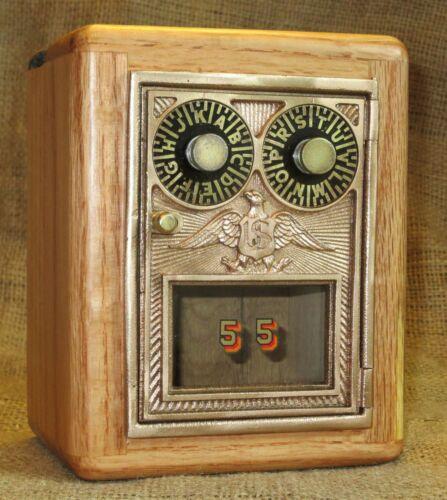 Post Office Door Bank #55 - Postal Door - Reclaimed Oak- 1930 - 1954 Double Dial