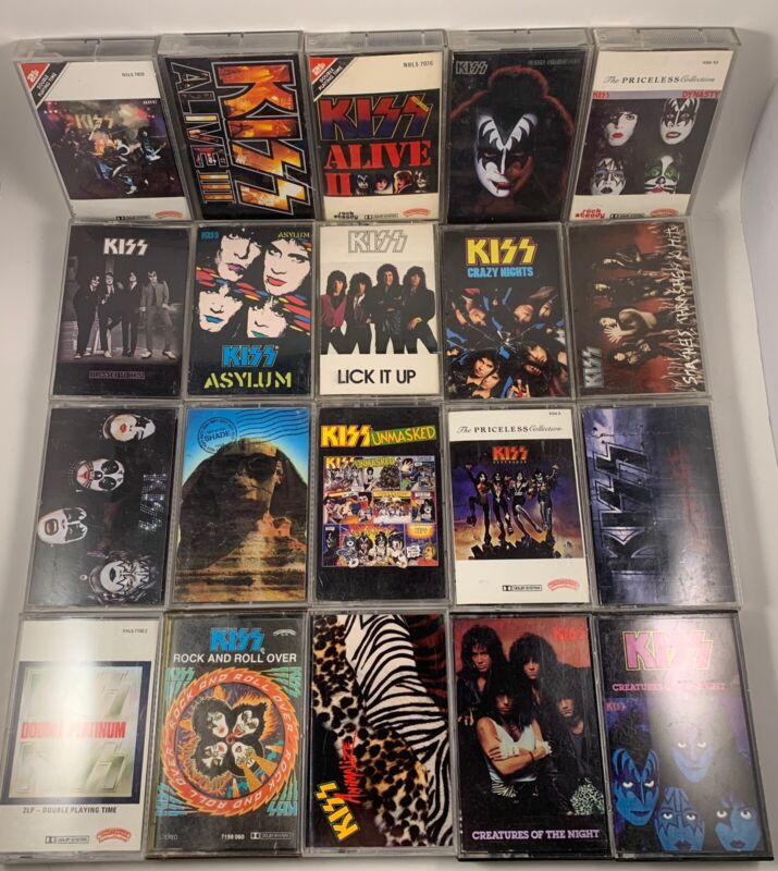 Lot Of 20 Vintage Kiss Cassette Tapes
