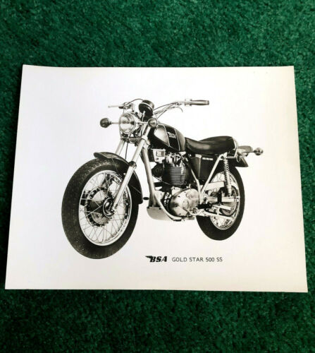 ORIGINAL 1971 BSA MOTORCYCLE FACTORY PRESS PHOTO GOLD STAR 500-SS B50SS B50