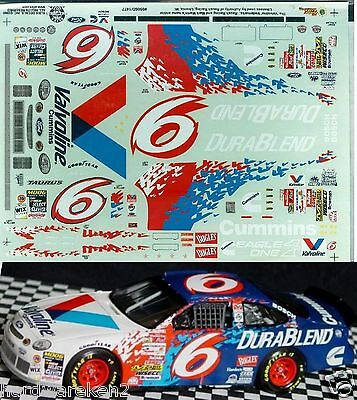 NASCAR DECAL # 6 DURABLEND 1999 FORD TAURUS MARK MARTIN SLIXX