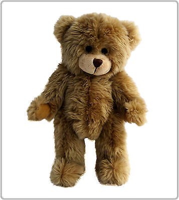 1x JOINTED CHARLES TEDDY BEAR SOFT TOY PLAIN / NAKED WITHOUT CLOTHING BULK BUY