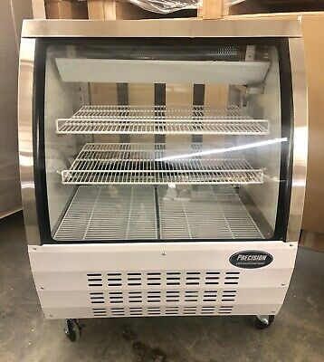 Deli Case New 36 3 Show Curved Glass Refrigerator Display Bakery Pastry Meat